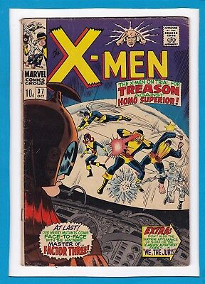 """X-Men #37_October 1967_Very Good_""""the X-Men On Trial For Treason""""_Silver Age Uk!"""
