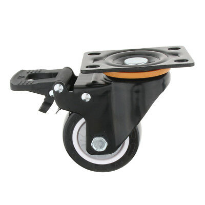 "3"" Universal Heavy Duty Top Plate Swivel Caster Wheel Roller with Lock Brake"