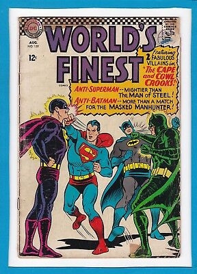 World's Finest #159_August 1966_Good+_Superman_Batman_Silver Age Dc!