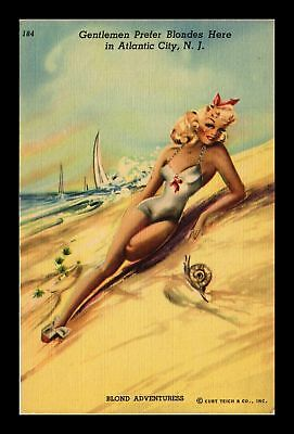 Dr Jim Stamps Us Gentlemen Prefer Blondes In Atlantic City New Jersey Postcard