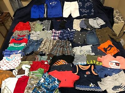 Boys 3T Spring Summer Clothes Lot 65pc Childrens Place Nike Old Navy Carter's