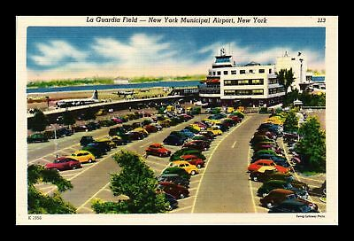 Dr Jim Stamps Us Laguardia Field New York Municipal Airport New York Postcard