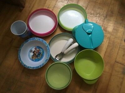 OXO TOT Weaning Plates & Bowls w/Lids, Spoon & Fork