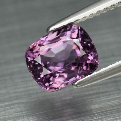 2.06ct 7.6x6.3mm Cushion Natural Purple Spinel, M'GOK