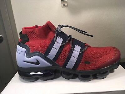 eaceccb234 NIKE AIR Vapormax FK Utility Flyknit Team Red Black Obsidian Size 11 AH6834 -200