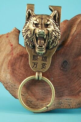 Unique Chinese Bronze Pendant Belt Buckle Tiger Sacred Mascot Collection