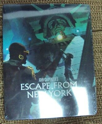 ESCAPE FROM NEW YORK BLU-RAY SEALED Steelbook Scream Factory reissue