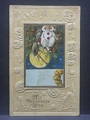 1920..Halloween postcard...heavily embossed edges...colorful, fine design