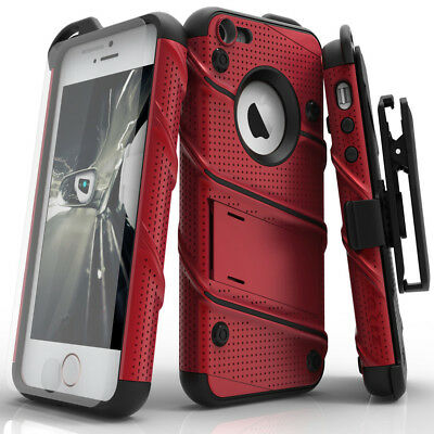 Zizo BOLT Case for Apple iPhone 5 / 5S / SE / 5C w/ Holster and Tempered Glass