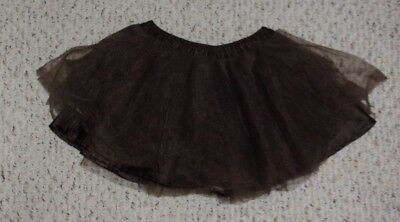 Brown Gymboree Skirt w/ Tulle Over-Skirt, Fall for Monkeys Outlet, Size 3T, VGUC