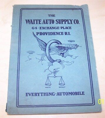 1917 Waite Auto Supply Catalog Providence RI