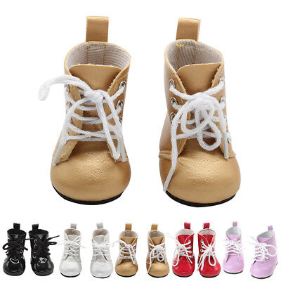 """American Pu Fashion Inch Baby Shoes Doll Ankle Boots For 18"""" Up Girl Handmade"""