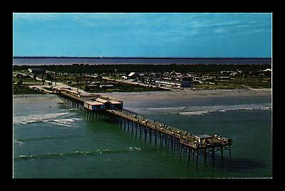 Dr Jim Stamps Us Canaveral Pier Cocoa Beach Florida Chrome View Postcard