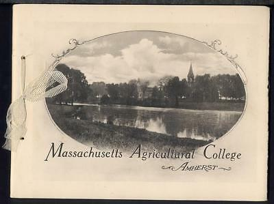 1910 U Mass Amherst MASSACHUSETTS AGRICULTURAL COLLEGE View Book Albertype