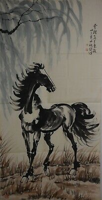 Delicate Large Chinese Painting Signed Master Xu Beihong No Reserve F1990