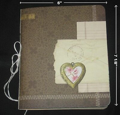 94pg!Handmade JUNK JOURNAL Signature Vtg&New Paper~DIY Blank Book4You2Embellish!