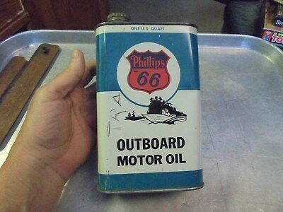 Vintage Phillips 66 Outboard Motor Oil One Quart Can