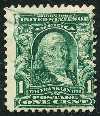 Dr Jim Stamps Us Scott 300 1C Franklin Used No Reserve Free Shipping