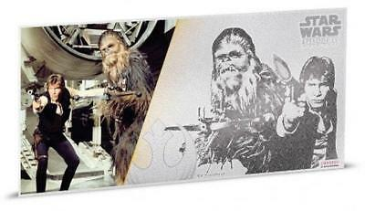 Niue - 2018 $1 Star Wars - Han Solo & Chewbacca 5g Silver Coin Note , Sealed