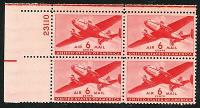 Dr Jim Stamps Us Scott C25 6C Transport Plate Block Og Nh No Reserve