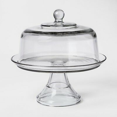 Classic Glass Cake Stand with Dome - Threshold