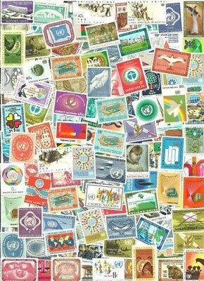 U N Collection Pulled from Stamp Hoard 123 Large Mint Little Duplication **SALE*