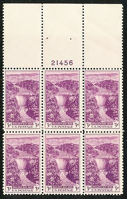 Dr Jim Stamps Us Scott 774 3C Boulder Dam Plate Block Og Nh No Reserve
