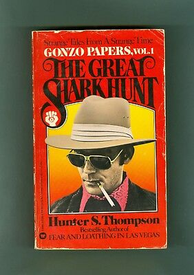 RARE Hunter S. Thompson THE GREAT SHARK HUNT Ralph Steadman Kentucky Derby GONZO
