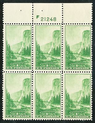Dr Jim Stamps Us Scott 740 1C Yosemite Plate Block Og Nh No Reserve