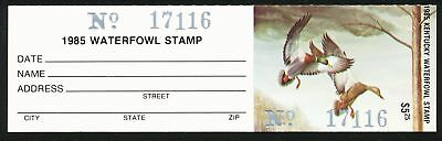 Dr Jim Stamps Us State Duck W/tab Kentucky 1985 $5.25 Unused Og Nh No Reserve