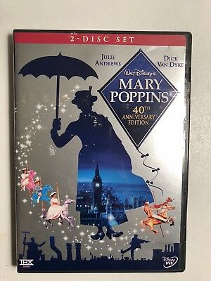 Disney Mary Poppins DVD (2004) 40th Anniversary Edition Julie Andrews