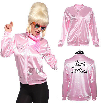 UK New Official Grease Pink Ladies Jacket Halloween Stage Jacket S/M/L/XL 2018 E