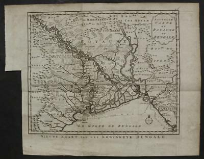 Gulf Of Bengal India 1763 Bellin/schley Unusual Antique Copper Engraved Map