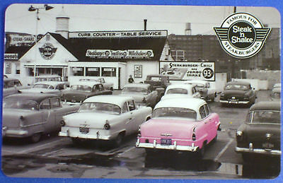 NEW Retro 1950s STEAK N SHAKE American Classic Antique Cars GIFT CARD No $ Value