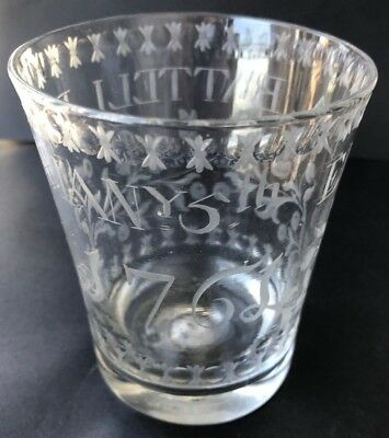 1761 English Christening Glass - original in perfect condition - free shipping