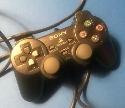 Official Sony Playstation Black Wired Controller PS1  Analog Dualshock