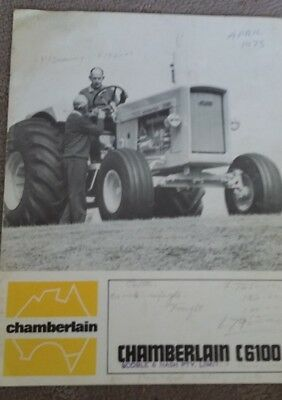 Chamberlain C6100 Tractor 12 Page 1970 Brochure