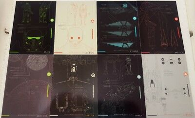 Star Wars ROGUE ONE Series 1 BLUEPRINTS of SHIPS & VEHICLES Trading card Set  8