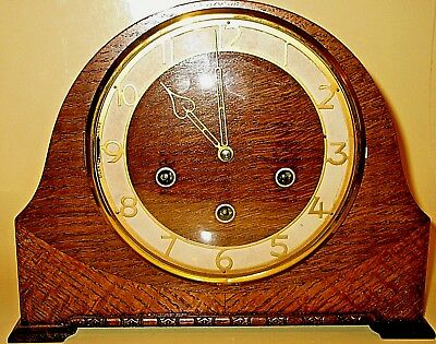Vintage Smiths Westminster Chimes 8 Day Mantle Clock