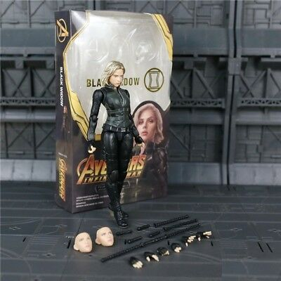 SHF Marvel Avengers Infinity War Black Widow 15cm PVC Action Figure New In Box