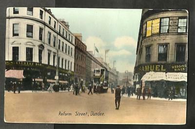 OJM Early Postcard, Reform Street, Dundee shows Tram
