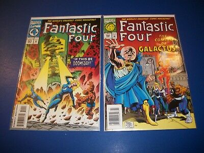 Fantastic Four #390,391 lot of 2 NM- Gems #48,49 Homage covers