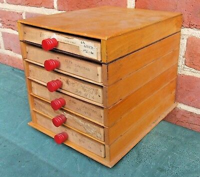 Letterpress Printing Adana Wooden Sectional Type draw Cabinet with 6 small cases