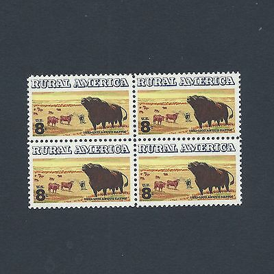 Black Angus Cattle - Vintage Mint Set of 4 Stamps 46 Years Old!