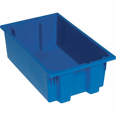 Quantum Storage Stack and Nest Tote Bin-18in x 11in x 6in Size Blue #SNT 180 B