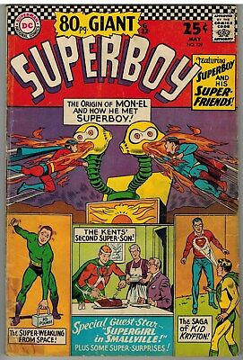 Superboy #129 1966 Dc Silver Age 80 Page Giant!