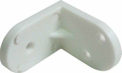 Angled Furniture Plastic Bracket Choose Colour White or Brown
