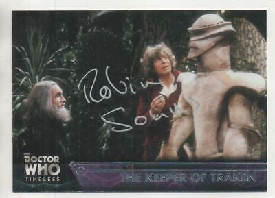 "Dr Who Topps Timeless Card No.28 Auto by Robin Soans ""Consul Luvic"""