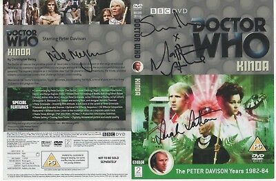 Dr Who Kinda DVD Cover Auto by 4 Actors