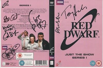 Red Dwarf DVD Cover Auto by 6 People